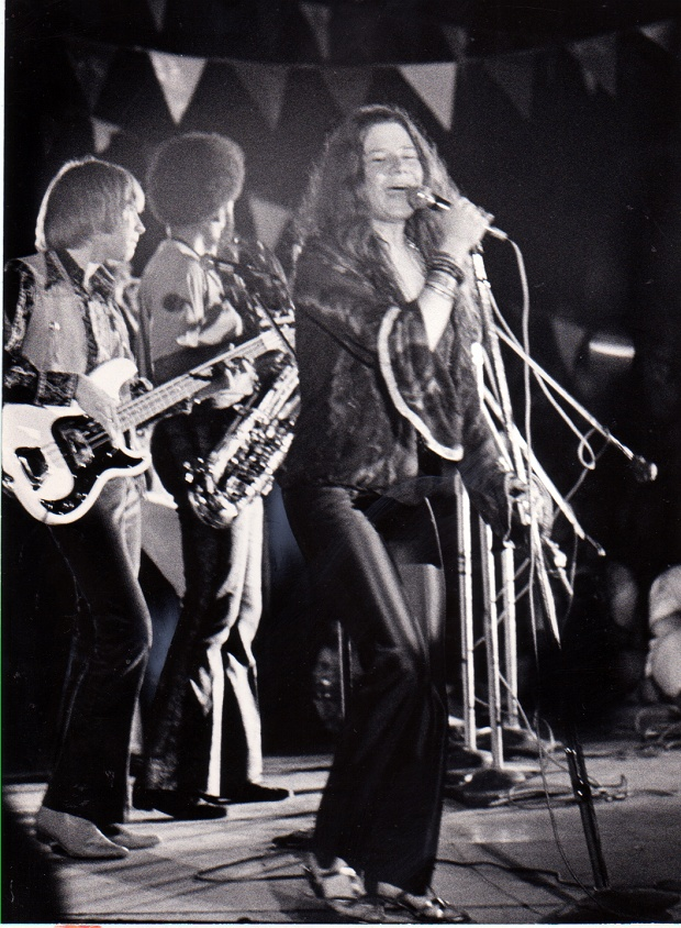Janis Joplin, Texas International Pop Festival, Lewisville, Labor Day weekend, 1969. (Robert Shaw/The Dallas Morning News)
