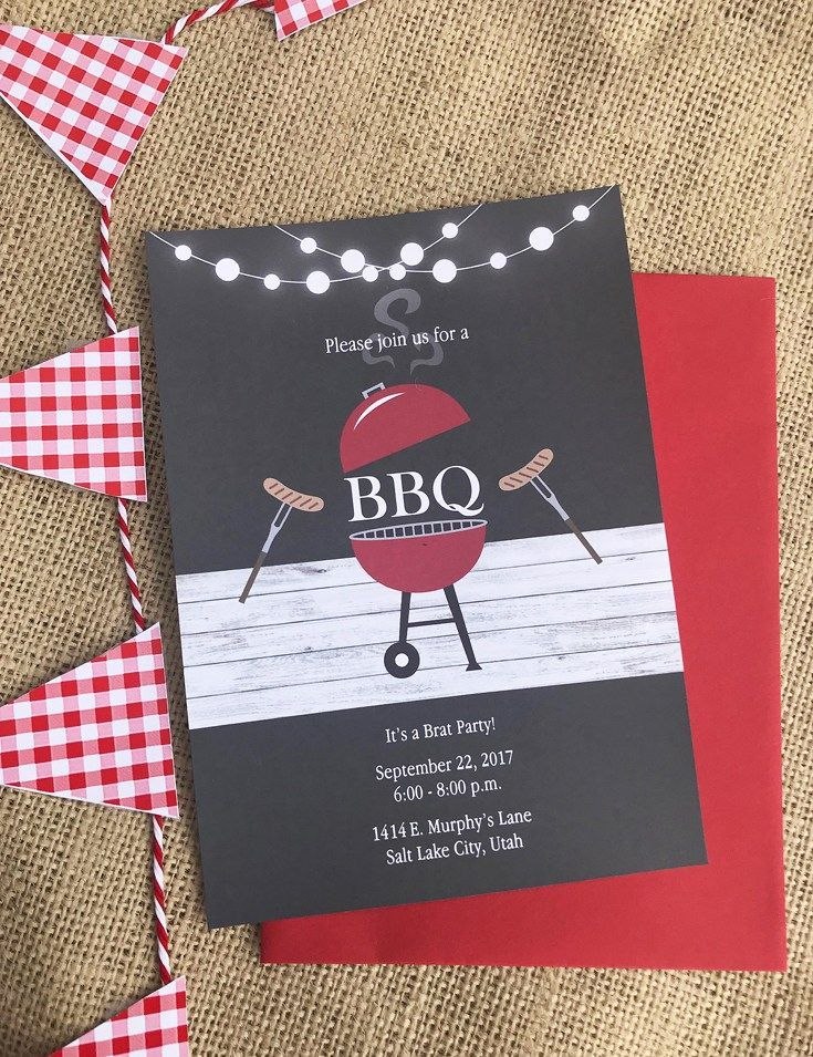 Invitations set the stage for the party theme. These awesome night BBQ invites were the perfect way to communicate with our guests. Red white and BBQ Party | Halfpint Design - summer party, Memorial weekend bbq, 4th of July, Labor Day party, BBQ party, Oktoberfest, neighborhood grill, brat party