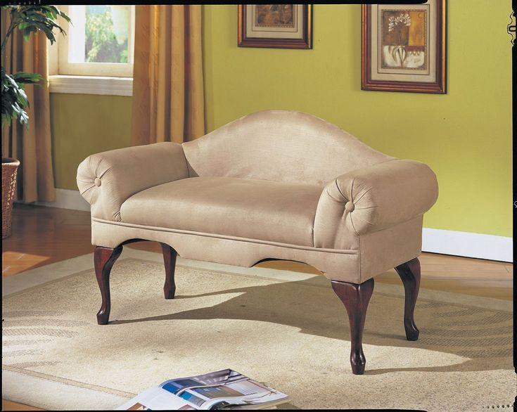 Acme 05630 Aston Microfiber Rolled Arm With Back Bench, Beige Finish    Window Seat Part 71