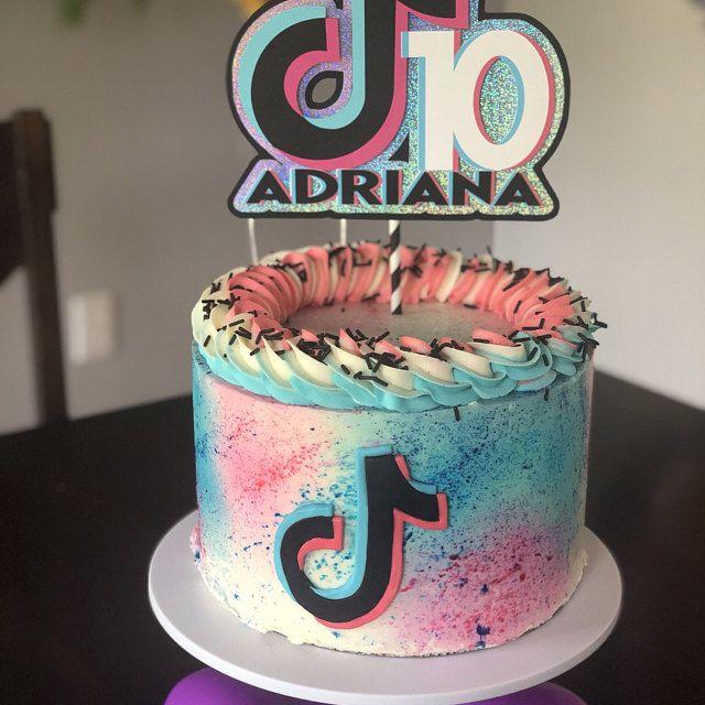 Tik Tok Cake Topper Tik Tok Party Decorations Age Name Etsy In 2021 Cake Cake Toppers Unicorn Birthday Cake