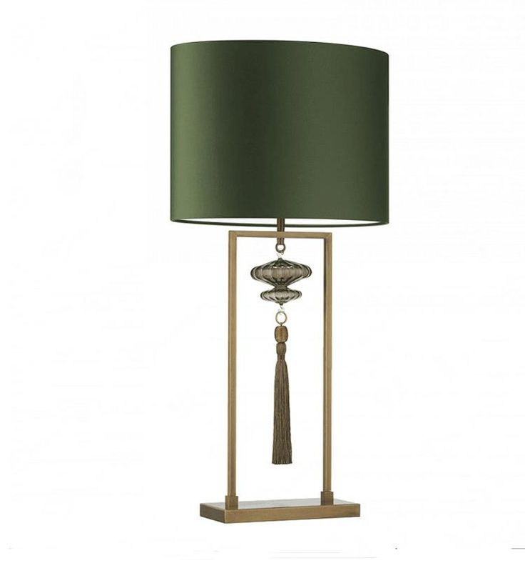 European Style Table Light Living Room Tassels Decorative Lamps Blue Green Study Bedroom Model
