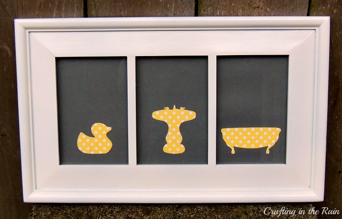 Crafting in the Rain: Easy Bathroom Silhouette Art