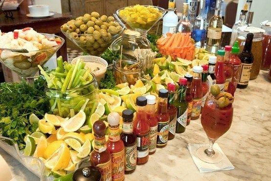 bloody mary bar...heavenly!