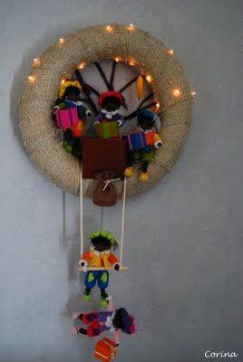 #Sinterklaas Krans met verlichting