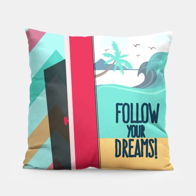#quote follow your dreams #pillow
