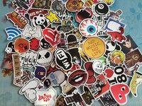Wish | 25 COOL CUTE Unique Stickers Skateboard Vintage Vinyl Sticker Laptop Luggage