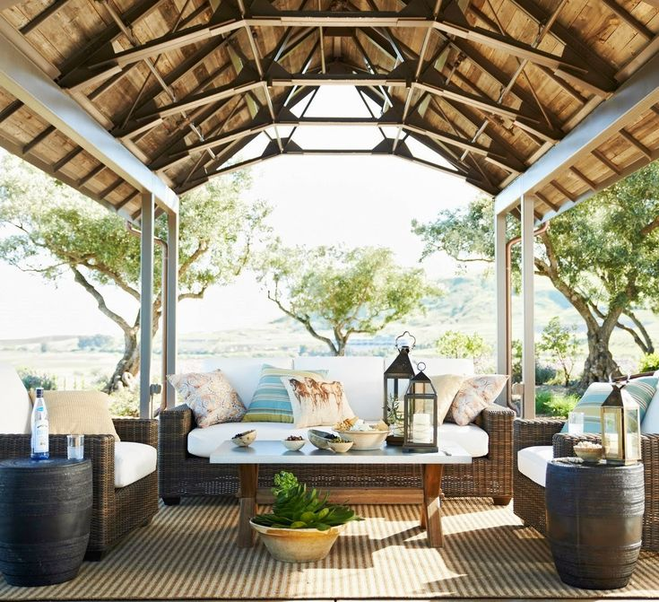 Love This Covered Patio Outdoor Living Gardens