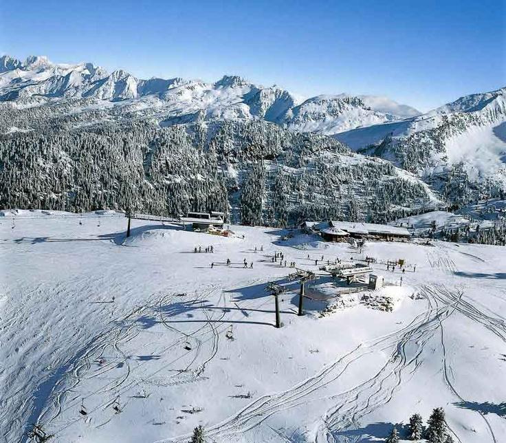 Piste da sci in Val di Fiemme (Trentino)