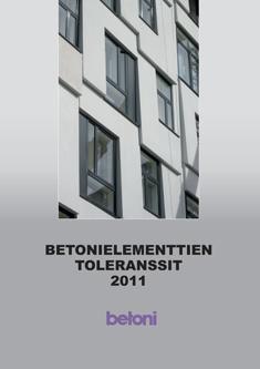 Julkaisussa esitetään betonielementtien valmistustoleranssit ja elementtirakenteiden rakentamistoleranssit, joita suositellaan käytettäväksi kaikissa betonielementtien kaupallisissa ja teknisissä asiakirjoissa. Sisältöön on lisätty uusina tuoteryhminä mastot, pylväät, hormielementit ja paalut. Sisällössä on otettu huomioon uudet eurooppalaiset suunnittelu- ja tuotestandardit.