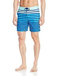 Mens beach clothing can be as simple as colorful swim trunks and a solid color Cool-Dri T-shirt.