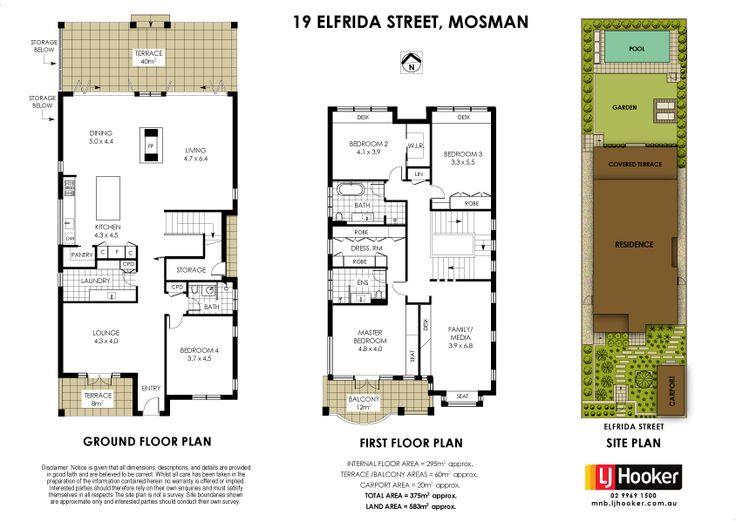 30/04/15 Mosman, NSW Sales Agents - Geoff Smith and Richard Harding LJ Hooker Lower North Shore  02 9969 1500 #floorplans #floorplan #design #mosman #Sydney