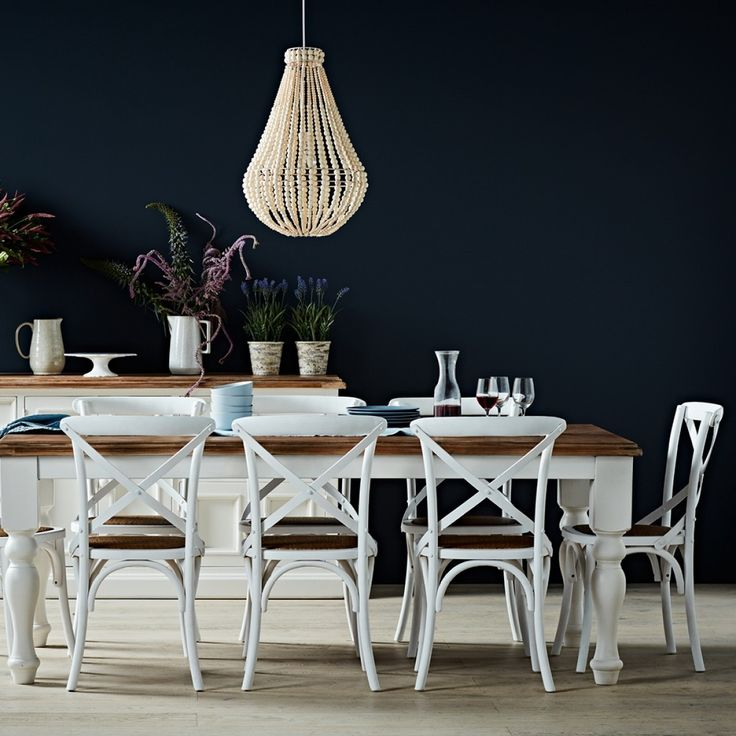 Mansfield Dining Table 2100x1050mm White - Tables - Dining