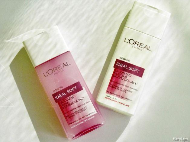 Karalajn: L`Oreal Ideal Soft - mleczko oraz tonik oczyszczaj...