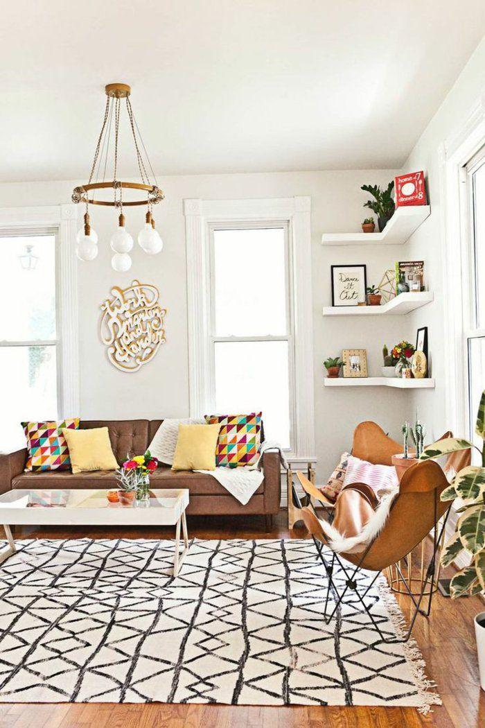 Die besten 25+ Braunes ledersofa Ideen auf Pinterest - moderne wohnzimmer pflanzen