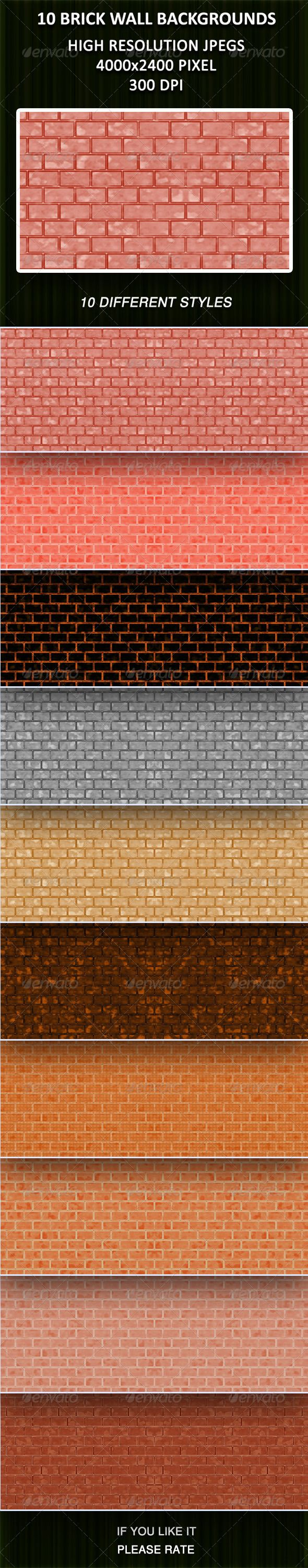 Plain wood table with hipster brick wall background stock photo - 10 Brick Wall Backgrounds