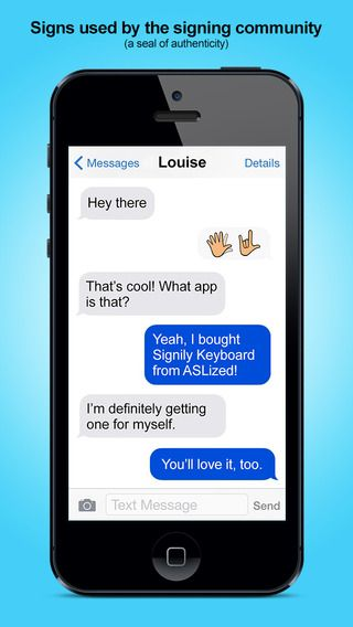 Signily Keyboard - Sign Language Emoji and GIFs! by ASLized!