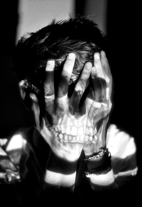 Lights, Skull, Double Exposure, Inspiration, Hands, Art, Projectors, Photography, Audrey Kitching