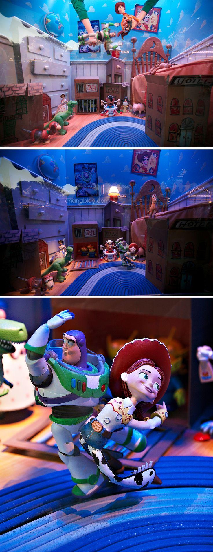 Forced to wear dresses at disneyland stories - Disneyland Toy Story Main Street Window