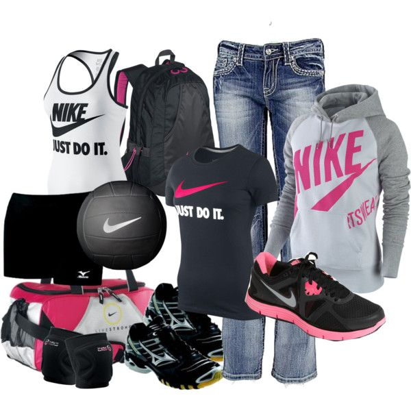 I want those pink and black shoes. :)