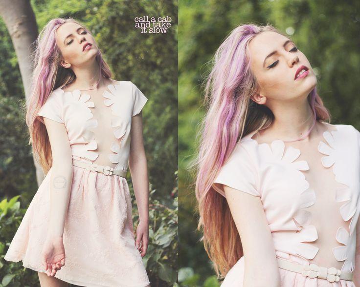Handmade Soft Pink Cherry Tree Dress Call A Cab & Take It Slow www.callacabandtakeitslow.com