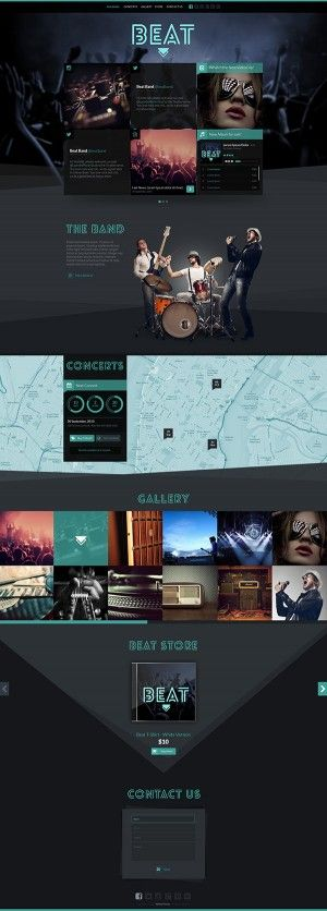 Beat – One-Page HTML5 Music  Band Template