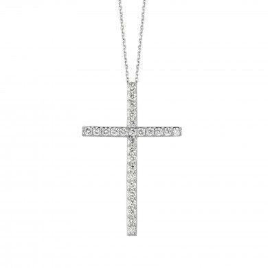1.54ct Diamond cross necklace N5294-1.5W