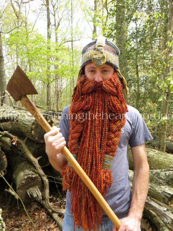 74cf3ec4f4a Instant Download - Gimli Inspired Helmet and Beard LOTR Crochet Pattern
