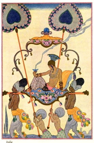 George Barbier  'India'  From 'The Art Of Perfume',1912