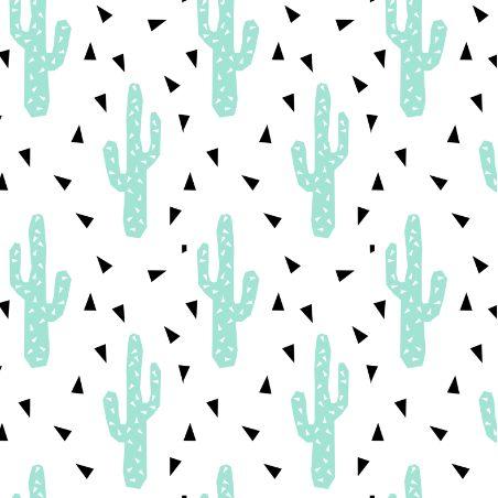 cactus mint tri triangle trendy design for minimal kids baby desert southwest by charlotte winter on spoon flower