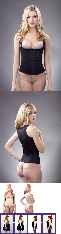 Women Shapewear: Full Back Underbust Latex Waist Trainer,Cincher, Fajas Reductoras Colombianas -> BUY IT NOW ONLY: $59 on eBay!
