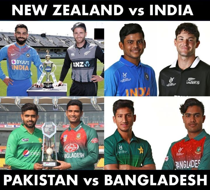 New Zealand Vs India Pakistan Vs Bangladesh In Senior And Junior Cricket Today In 2020 Cricket Today Pakistan Vs Latest Cricket News