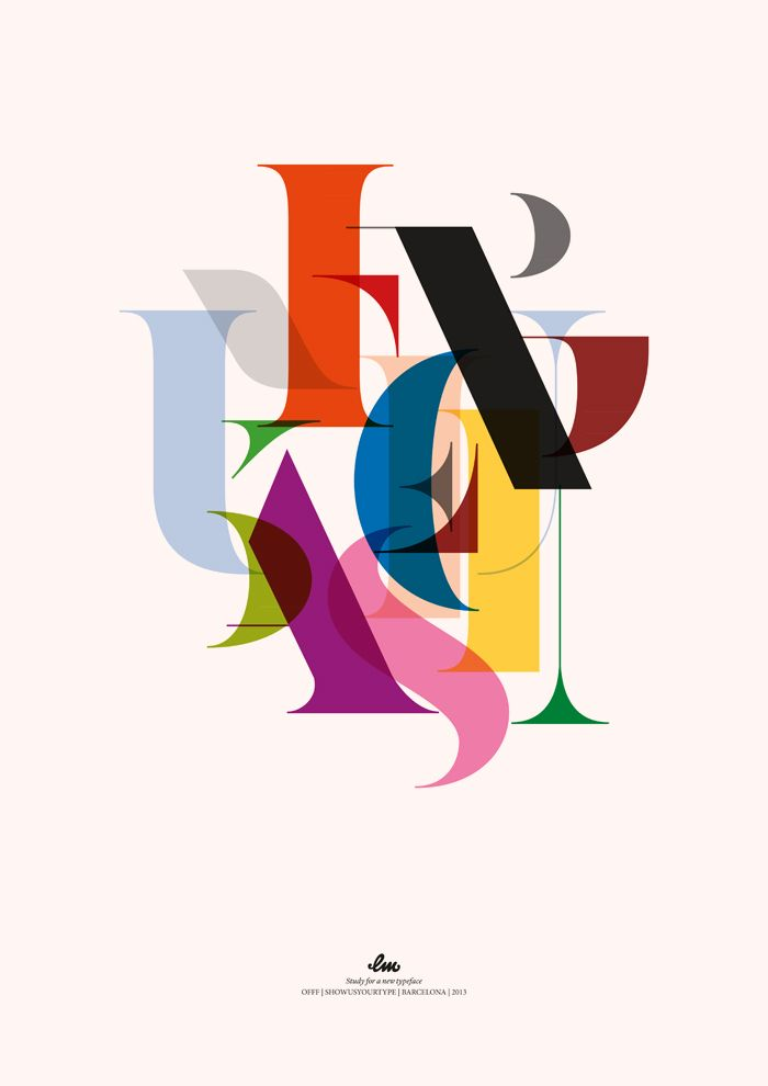 overlapping letters http://www.arcreactions.com/calgary-marketing-blog/ #type #typography #font