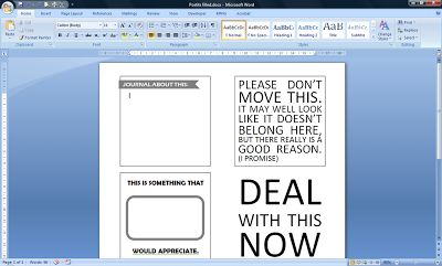 Printed Post-It Notes Word Template