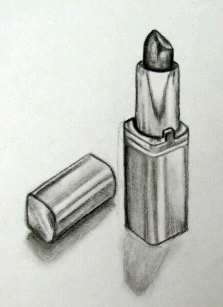 Still life lipstick pencil drawing                                                                                                                                                     More