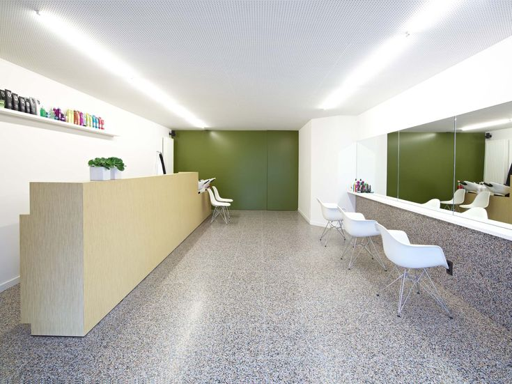 Terrazzo instantly livens up this retail space. Available at Signorino Tile Gallery