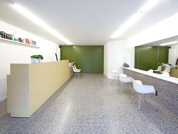 Terrazzo instantly livens up this retail space. Available at Signorino Tile Gallery  #terrazzo  #naturalstone #quartz #interiordesign #architecture