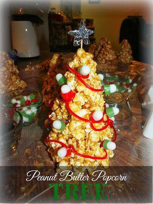 Crafty Night Owls: Christmas Series Day 30 - Peanut Butter Popcorn Tree