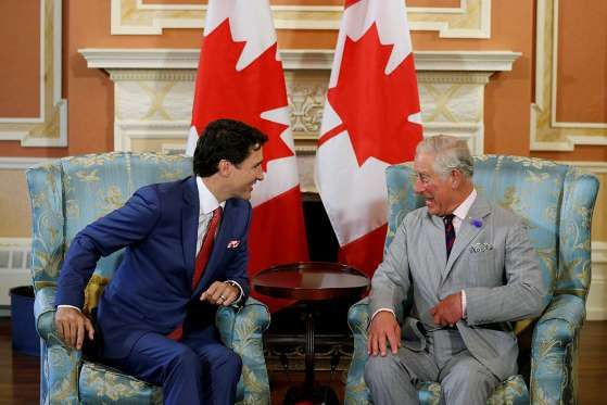 Britain's Prince Charles meets with Canada's Prime Minister Justin Trudeau at Rideau Hall in Ottawa, Ontario, Canada July 1, 2017. | Used with permission of / © Rogers Media Inc. 2017 | Maclean's . July 2, 2017