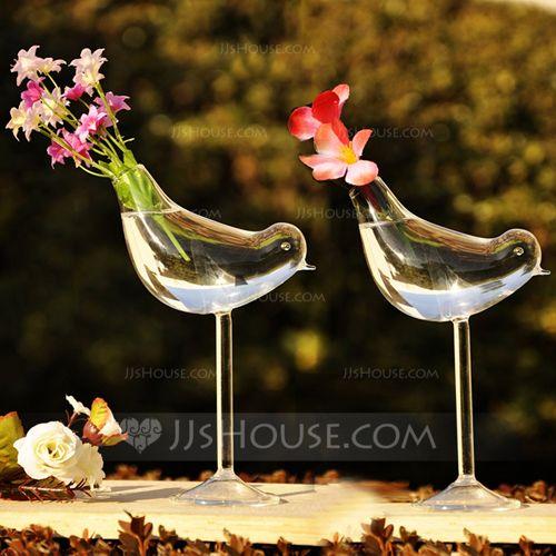 """Love Bird"" Glass Vase (128035820)"