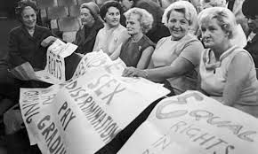 1970 Equal Pay Act - men and women get the same wage for same job.
