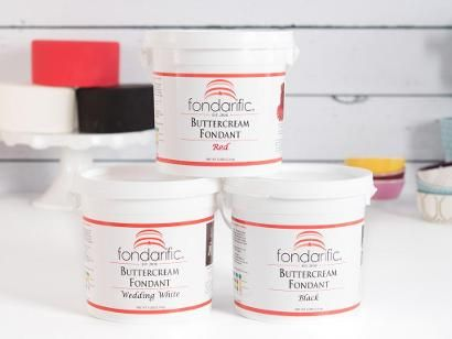 Looking for the perfect fondant for cakes, cookies, cupcakes, candy centers, petit fours and more? Look no further than Fondarific Buttercream Fondant! Finish your cakes with beautiful embellishmen...