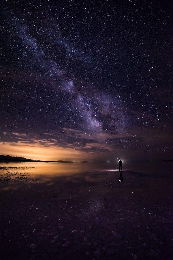 Milky Way selfie near Spiral Jetty | by: {Prajit Ravindran}