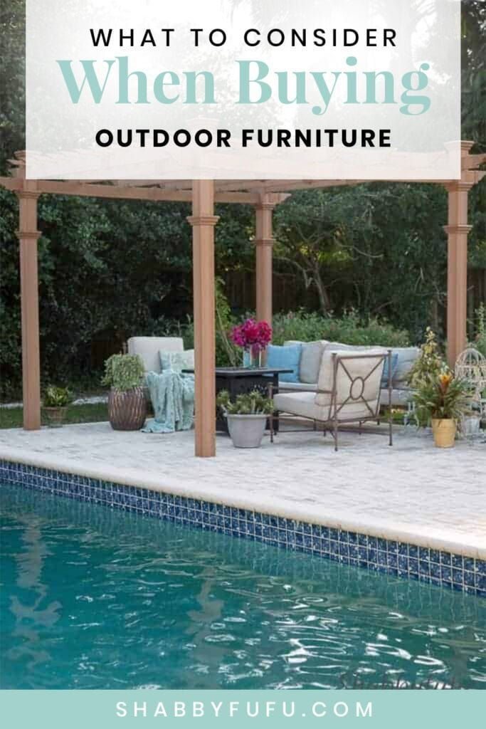 What To Consider When Buying Outdoor Furniture In 2020 Buy