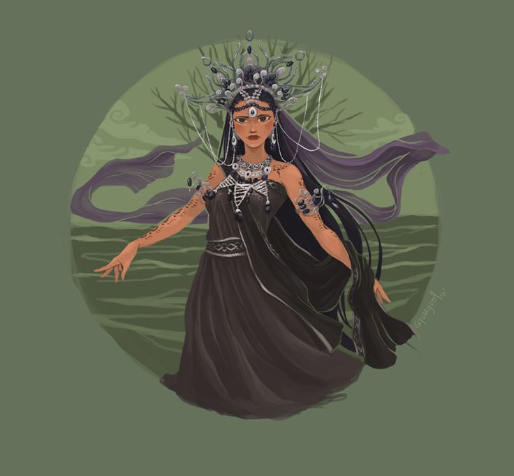 Magwayen - The goddess of the sea by James Claridades Visayan Mythology