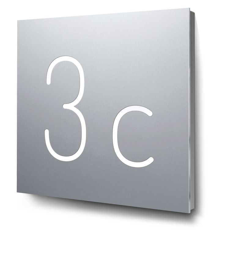 Popular Hausnummer zweieistellig beleuchtet in Aluminium