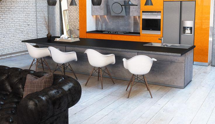 pour un lot de cuisine de style industriel pensez aux fa ades de portes et tiroirs en b ton. Black Bedroom Furniture Sets. Home Design Ideas