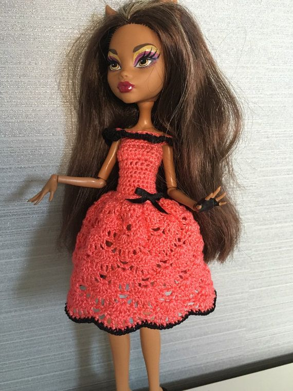 Handmade dress for Monster High Doll by DianaWeddingBoutique