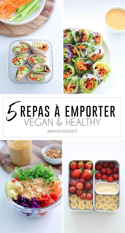 5 idées de repas à emporter VEGAN et HEALTHY recettes ...