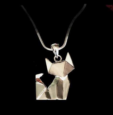 This origami cat pendant. | 23 Ways To Subtly Tell The World You're A Cat Lady