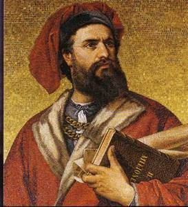 Marco Polo was a Venetian merchant traveller whose travels are recorded in Livres des merveilles du monde, a book that introduced Europeans to Central Asia and China.
